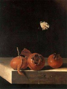 Adriaen Coorte_Three Medlars and a Butterfly
