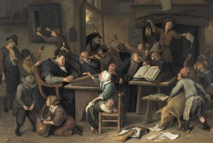 Jan Steen-A schoolclass with a sleeping schoolmaster